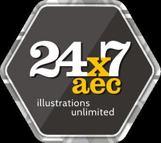 24x7 AEC Architectural Illustrations